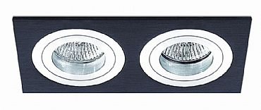 BPM 3055 Aluminio Negro Vestavné bodové svítidlo 12V + 3 roky záruka ZDARMA!