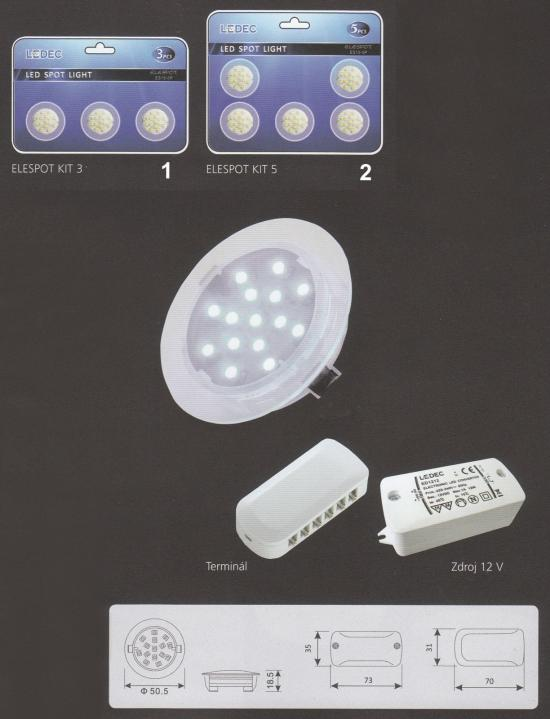 FULGUR FU ELESPOT 5 SET ELESPOT Vestavné bodové svítidlo 12V + 3 roky záruka ZDARMA!