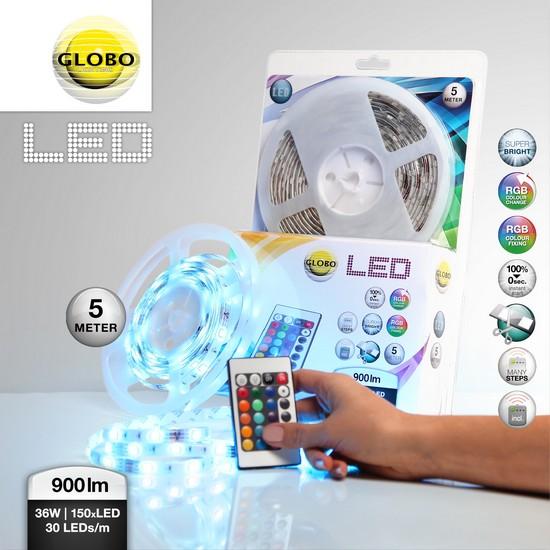 GLOBO 38990 s pohybovým čidlem LED páska + 3 roky záruka ZDARMA!
