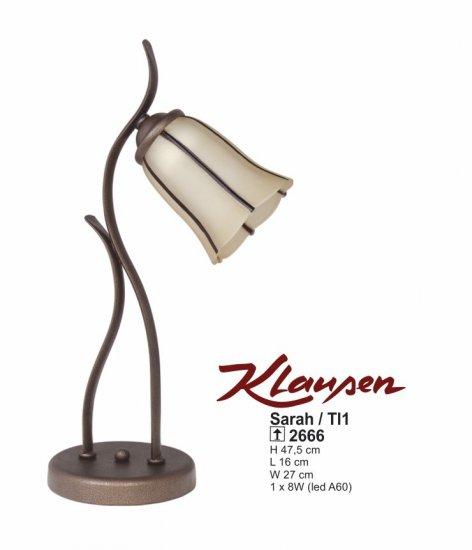 Klausen 2666 Sarah Pokojová stolní lampa + 3 roky záruka ZDARMA!