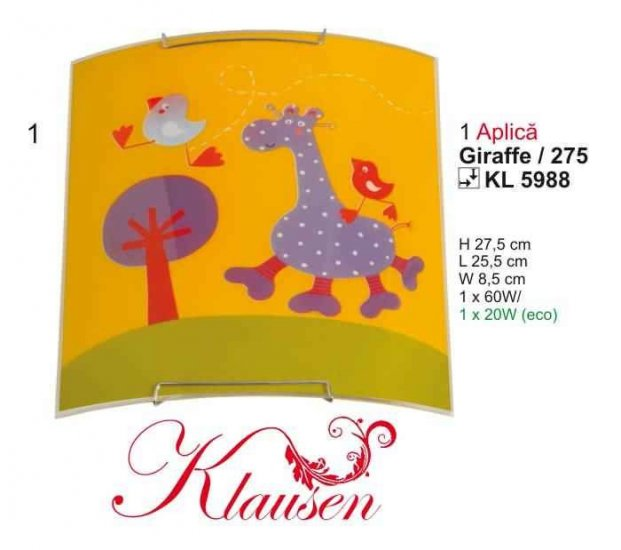 Klausen 5988 Dětské svítidlo + 3 roky záruka ZDARMA!