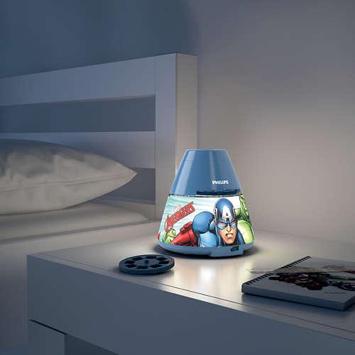 Massive Philips 7176935P0 DISNEY PROJEKTOR dětská lampičkado dětského pokoje