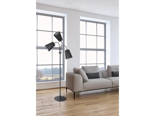 NOWODVORSKI 9754 BLACK stojací lampa nejen do ložnice