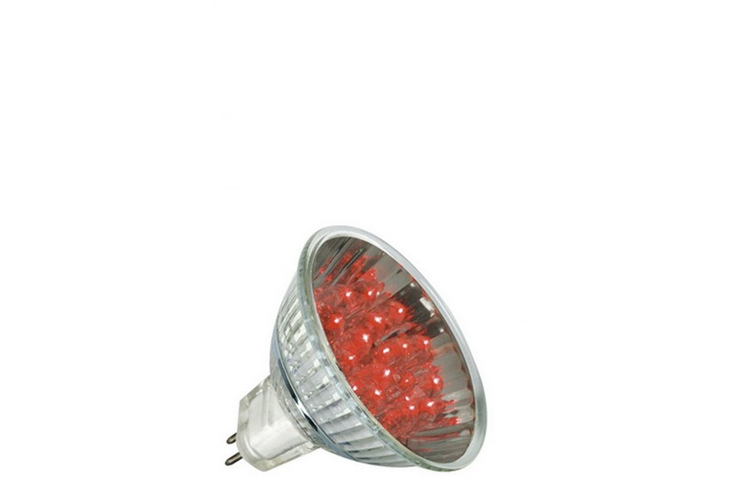 Paulmann LED žárovka GU5,3 1 W červená