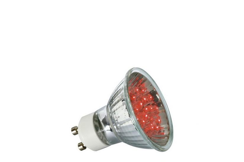 Paulmann LED žárovka GU10 1 W červená