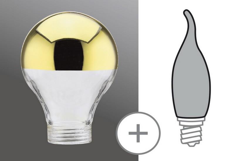 Paulmann Halogenová žárovka zlatý zcadlový vrchlík