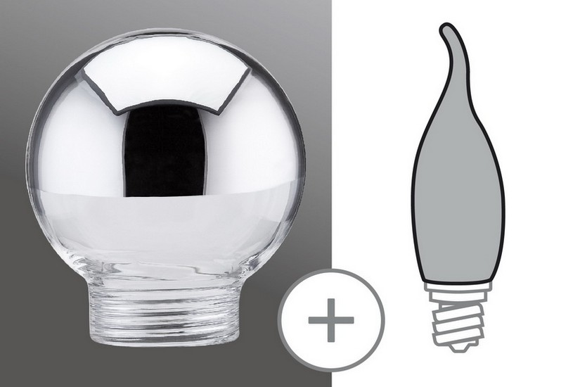 Paulmann Halogenová žárovka zrcadlový vrchlík stříbrný