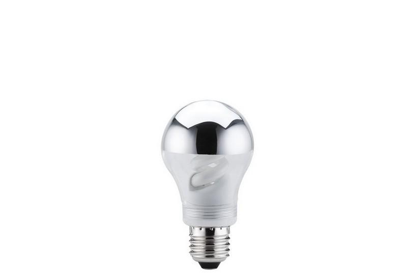 Paulmann Úsporná žárovka E27 9 W 827 zrcadlový vrchlík stříbrný