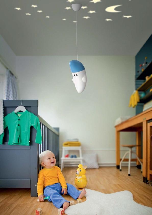 PHILIPS 410723516 Buddy Moon dětský lustrdo dětského pokoje