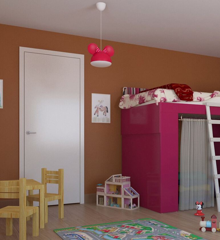 PHILIPS 717583116 Minnie Mouse dětský lustrdo dětského pokoje