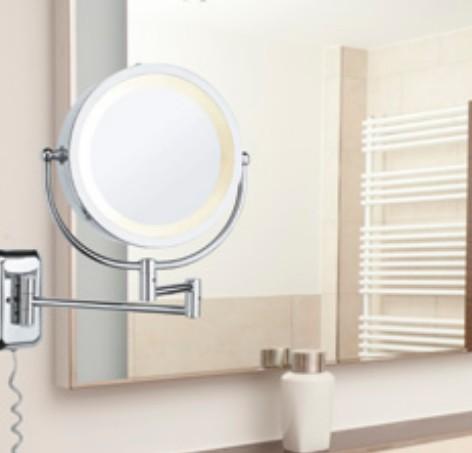 PAULMANN P 70349 zrcadlo s LED osvětlením, podsvícené do koupelny,  470mmx470mm