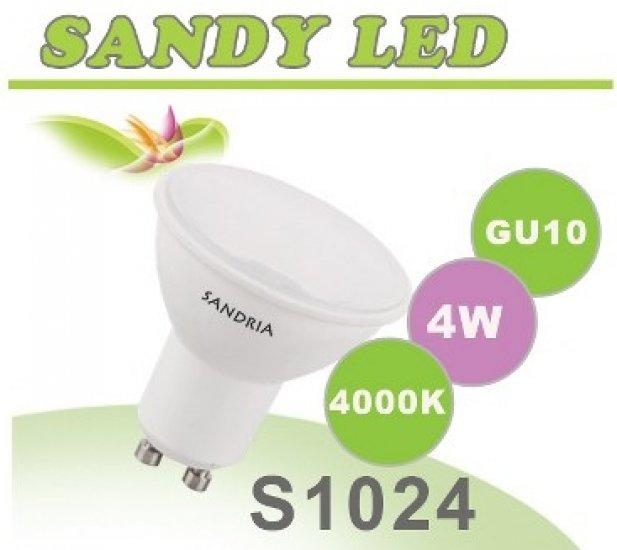 SANDRIA S1024 led žárovka GU10 4W Neutrální