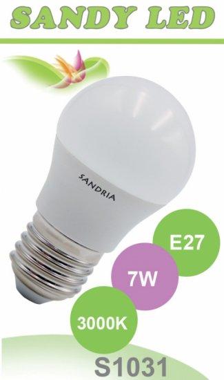 SANDRIA S1031 led žárovka E27 7W Teplá