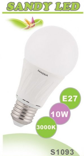 SANDRIA S1093 led žárovka E27 10W Teplá