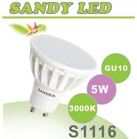 SANDRIA S1116 LED žárovka GU10 5W Teplá