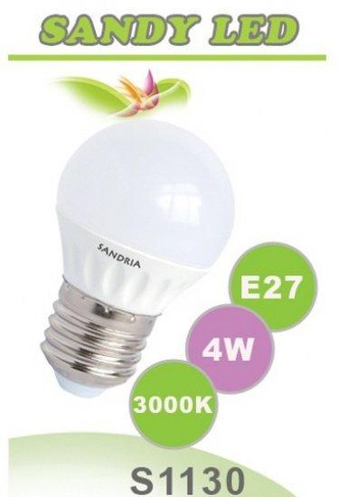SANDRIA S1130 led žárovka E27 4W Teplá