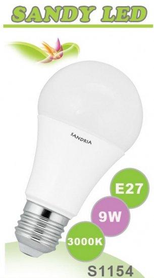 SANDRIA S1154 LED žárovka E27 9W Teplá
