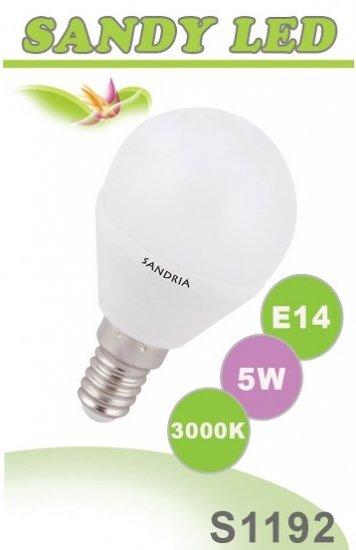 SANDRIA S1192 LED žárovka E14 5W Teplá
