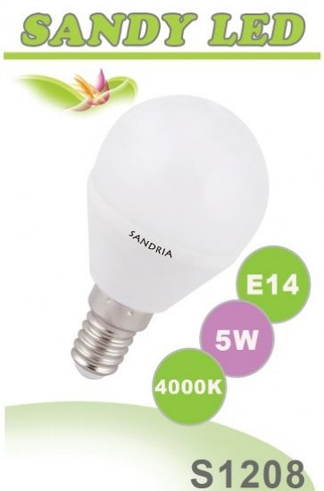 SANDRIA S1208 LED žárovka E14 5W Neutrální