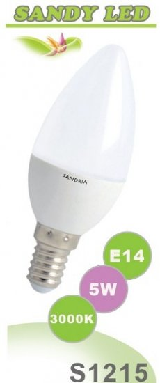 SANDRIA S1215 LED žárovka E14 5W Teplá