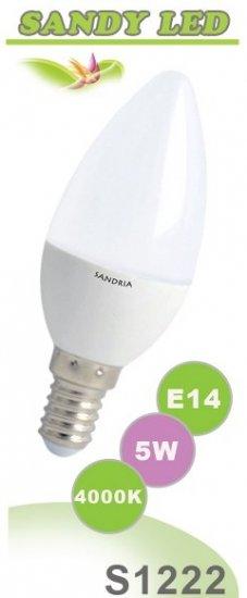 SANDRIA S1222 LED žárovka E14 5W Neutrální