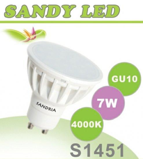SANDRIA S1451 led žárovka GU10 7W Neutrální