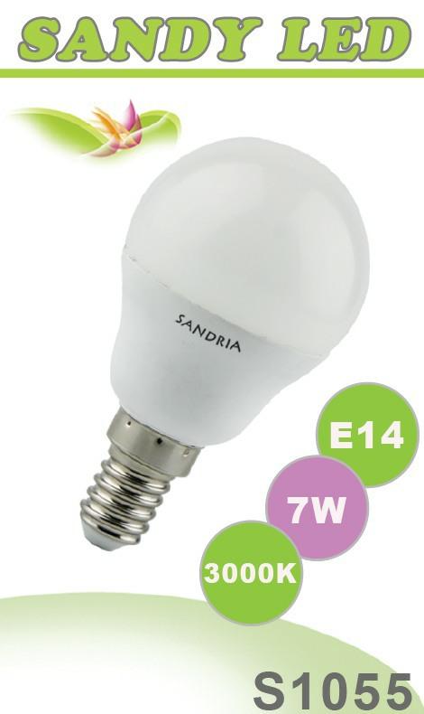 SANDRIA S1055 led žárovka E14 7W Teplá