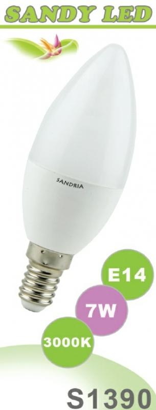 SANDRIA S1390 led žárovka E14 7W Teplá