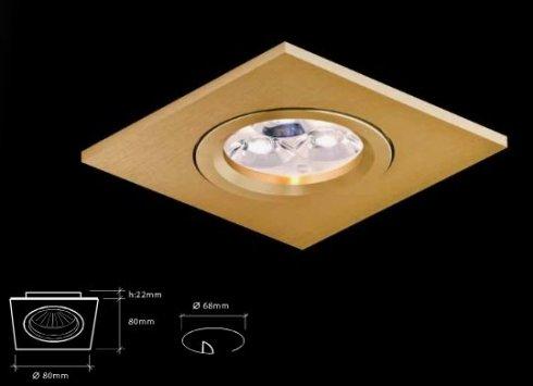 Vestavné bodové svítidlo 230V LED  BPM 2021LED1.D40.3K