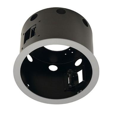 Zápustné svítidlo AIXLIGHT PRO FSLV LAT FRAMELESS I kruhová kryt černá SLV LA 115624