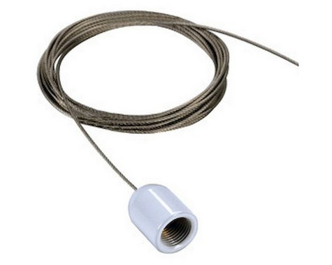 Systémové svítidlo lankový závěs pro jednookr. lištu 3m bílá SLV LA 143141