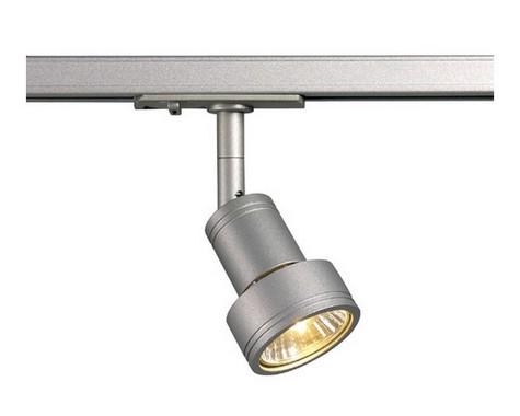 Systémové svítidlo PURI hlavice pro jednookr. lištu stříbrnošedá SLV LA 143392