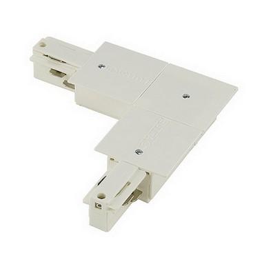 Systémové svítidlo EUTRAC přívod pro zápusnou lištu levá bílá LA 145771
