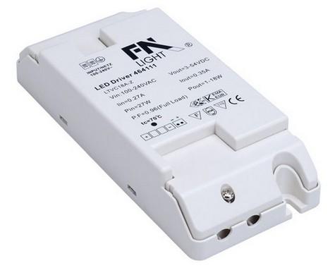 Doplněk LED napájení vč. přepěť. ochr. 230V/350mA LED 18W SLV LA 464111
