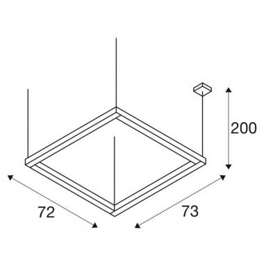 Lustr/závěsné svítidlo  LED LA 1001295-4