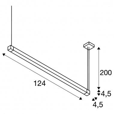 Lustr/závěsné svítidlo LA 1001297-4