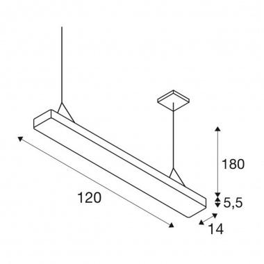 Lustr/závěsné svítidlo  LED LA 1002849-1