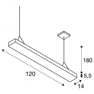 Lustr/závěsné svítidlo  LED LA 1002850-1