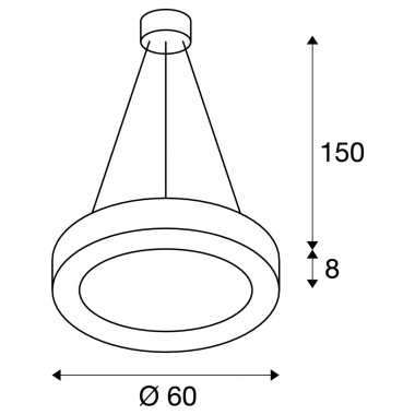 Lustr/závěsné svítidlo  LED LA 1002890-4