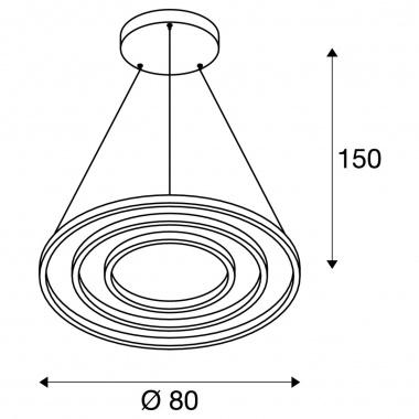 Lustr/závěsné svítidlo  LED LA 1002914-4
