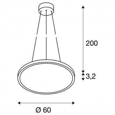 Lustr/závěsné svítidlo  LED LA 1003044-1