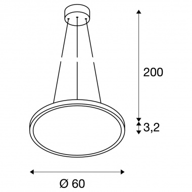 Lustr/závěsné svítidlo  LED LA 1003046-1