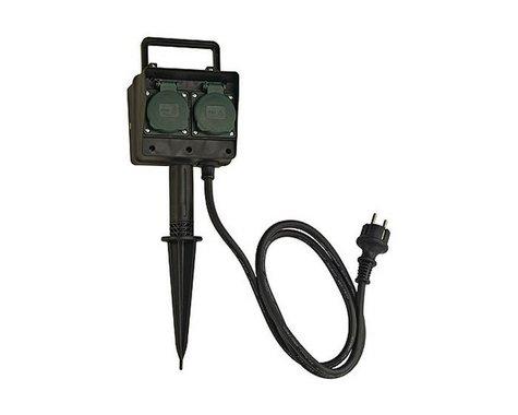 Čtyřnásobné zahradní zásuvky s 10m kabelem IP44 LA 227002-2