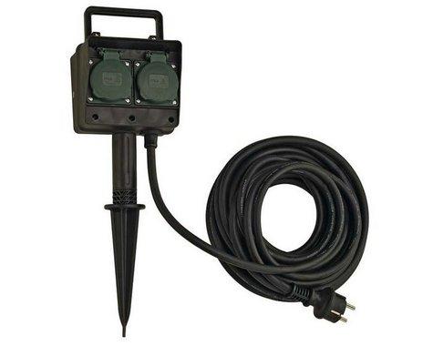 Čtyřnásobné zahradní zásuvky s 10m kabelem IP44 LA 227002-3