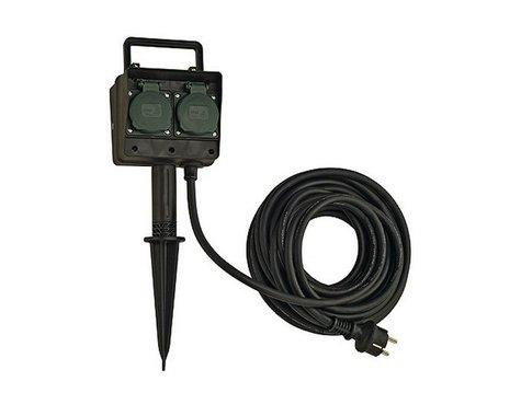 Čtyřnásobné zahradní zásuvky s 10m kabelem IP44 LA 227002-4