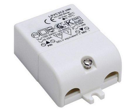 LED ovladač 1-3 LED vč. mini zástrčky 230V/350mA LED 3W LA 464107