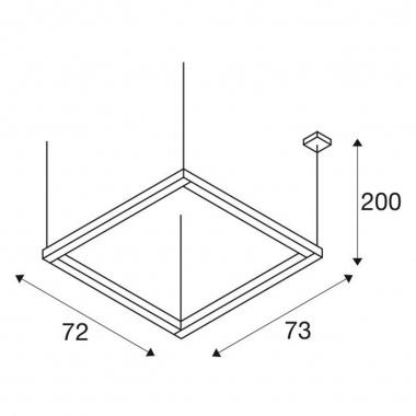 Lustr/závěsné svítidlo  LED LA 1001295-5