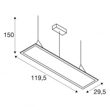 Lustr/závěsné svítidlo  LED LA 1001647-3
