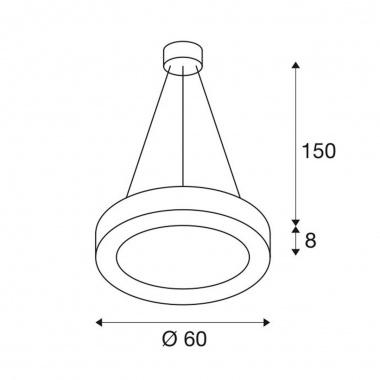 Lustr/závěsné svítidlo  LED LA 1002890-5