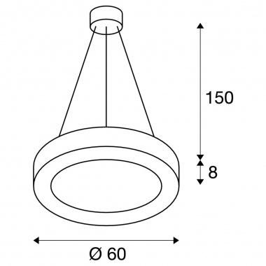Lustr/závěsné svítidlo  LED LA 1002891-3
